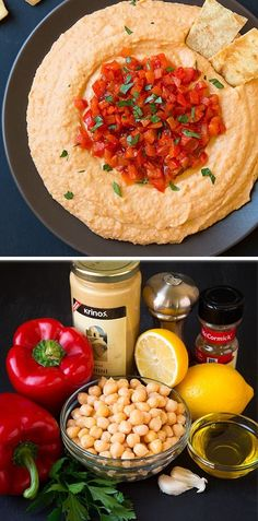 Roasted Red Pepper Hummus - SO much better than the store bought stuff!