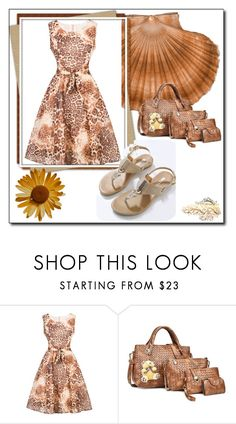 """""""Leopard Print Dress"""" by denisao ❤ liked on Polyvore featuring vintage"""