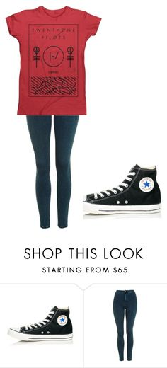 """""""Untitled #199"""" by cruciangyul on Polyvore featuring Converse and Topshop"""