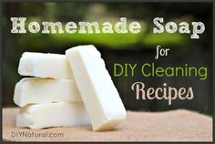 How To Make Soap - A Natural Soap for DIY Cleaning Recipes – Learn how to make soap that can be used in MANY other DIY cleaning recipes. This basic, natural soap is easy to make and great for laundry and general cleaning.