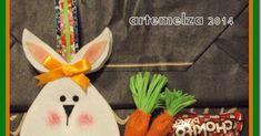 Mais um trabalho para colocar bombons ou ovinhos pequenos. Uma bolsinha ou cestinha em forma de ovo com a carinha de um coelho. Muito fác...