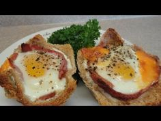 Ham and Egg Breakfast Cups - very good late night snack! It's amazing how well they hold together! I feel fancy.
