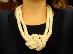 DIY Necklace  : DIY: Lizzie Fortunato Inspired Rope Necklace