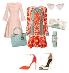 A pop of colour for the spring 2016 by viorika-iliy on Polyvore featuring polyvore, fashion, style, Temperley London, Alexander McQueen, Tom Ford, Brian Atwood, Christian Dior, Edie Parker, Cartier, Le Specs and clothing
