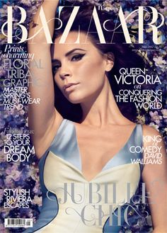Camilla Akrans photographs - Victoria Beckham fronts the May 2012 'Jubilee Chic' British issue