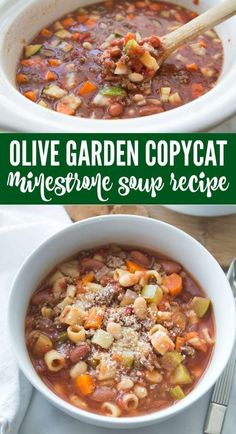 Business Cookware Ought To Be Sturdy And Sensible Easy Olive Garden Soup Recipe Copycat Olive Garden Minestrone Soup Recipe The Best Homemade Olive Garden Soup Recipe And Easy Crockpot Fall And Winter Slow Cooker Dinner Meal Plans # Crock Pot Recipes, Healthy Soup Recipes, Slow Cooker Recipes, Cooking Recipes, Instapot Soup Recipes, Fall Crockpot Recipes, Healthy Winter Recipes, Keto Recipes, Dessert Recipes