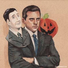 Michael Scott - Halloween Derwent drawing pencils on Strathmore tan toned paper Breaking Bad, The Office Show, Office Memes, Dunder Mifflin, Toned Paper, Michael Scott, Parks N Rec, I Love To Laugh, Movies Showing