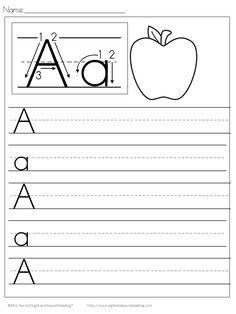 Handwriting: Free Handwriting Practice Worksheets