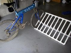 "DIY bike rack for kid bikes in the garage:  Cost of parts - @ $35  Parts List - all 1"" PVC Schedule 40 pipe & fittings:  40' Pipe  6 90 degree elbows  34 Tees  1 Pint PVC Cement"