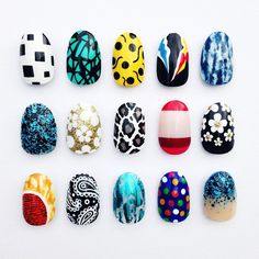 Vintage print inspired nails by The Illustrated Nail