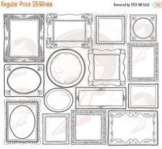Items similar to Handdrawn Doodle Clipart Frame Clip Art Commercial Use Decorative Frames Vector Png Files Scrapbook Craft School Teacher Supplies 10465 on Etsy School Supplies For Teachers, Teacher Supplies, School Teacher, Birthday Card Drawing, Birthday Cards, Birthday Wishes, Birthday Invitations, Happy Birthday, Doodle Pictures