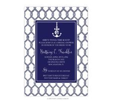 Preppy Nautical Party/Shower Invitations  by brittanylaurendesign, $31.50
