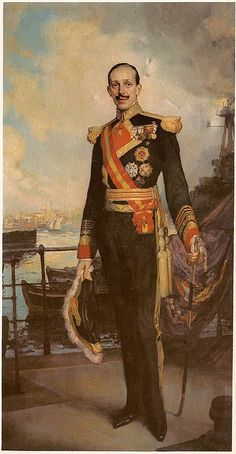 King Alfonso XIII in the uniform of a Spanish admiral