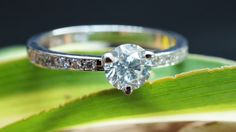 Engagement Ring 0.40ct with Side Diamonds 0.16 ct. - White Gold Diamond Ring - Valentines Gift - Bridal Jewellery - Womens Jewellery by Sevencaratshop on Etsy https://www.etsy.com/listing/264613980/engagement-ring-040ct-with-side-diamonds