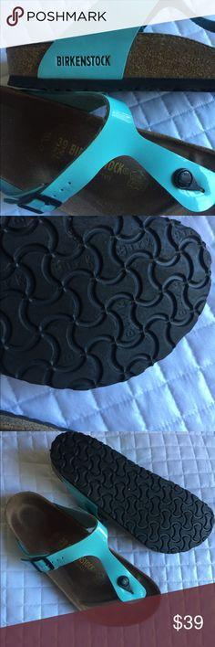 Birkenstock Gizeh sandals aqua gently worn sz.39 Birkenstock sandals aqua blue gently worn sz.39 Birkenstock Shoes Sandals
