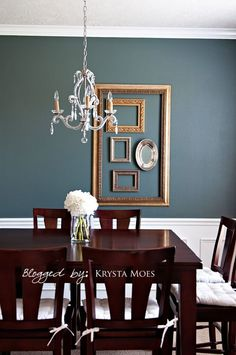 Blue Dining Room Colors love blue dining rooms. sherwin williams foggy day is a nice muted