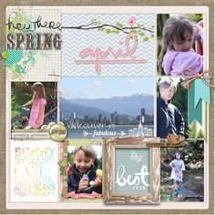 Love this #projectlife page by Sarah at DesignerDigitals #shopDesignerDigitals #project365