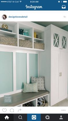 Love the color and shelves