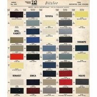 Ideal Color Code Book 25 Toyota Color Code Book