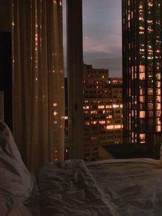 Night Aesthetic, City Aesthetic, Aesthetic Bedroom, Travel Aesthetic, Brown Aesthetic, Apartment View, Dream Apartment, Apartment Interior, Bedroom Apartment