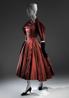 Charles James (American, born Great Britain, 1906–1978). Dress, 1950. The Metropolitan Museum of Art, New York. Brooklyn Museum Costume Collection at The Metropolitan Museum of Art, Gift of the Brooklyn Museum, 2009; Gift of Arturo and Paul Peralta-Ramos, 1954 (2009.300.180) #CharlesJames