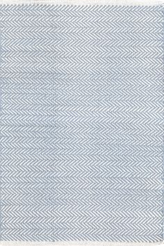 #DashandAlbert Herringbone Swedish Blue Woven Cotton Rug. You asked, and we listened! Another terrific Dash and Albert lightweight woven cotton area rug, this time in a classic herringbone pattern.