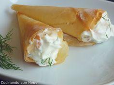 Cocinando con Neus: Cucuruchos de crema de salmón ahumado