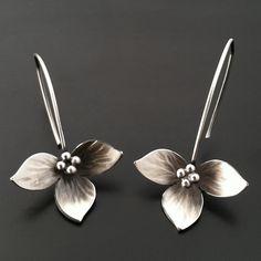 Sterling Lotus Earring