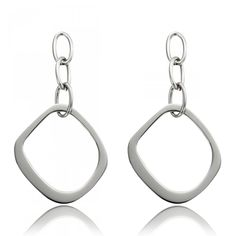 Unique Square Ring Earring - Clyda