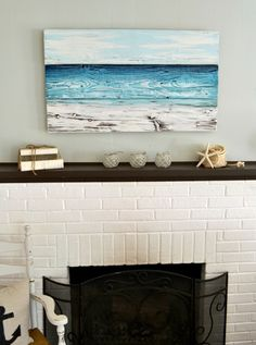 Ocean-Inspired Original Painting - Aimee Weaver Designs I'd love this over my bed....