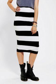 Motel Bobbie Stripe Midi Skirt