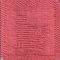 Kitty Cat Knit Dishcloth Pattern