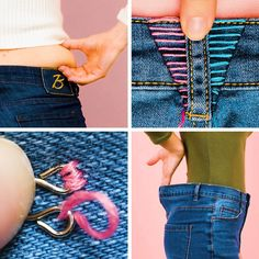 Easy sewing tips to resize your jeans - Dehily Sewing Tutorials, Sewing Hacks, Sewing Crafts, Sewing Projects, Sewing Patterns, Sewing Tips, Diy Jeans, Sewing Clothes, Diy Clothes