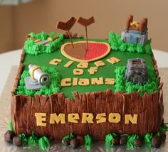 Clash Of Clans Cake Side View My Cakes Pinterest Cake