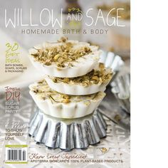 Within the winter issue of Willow and Sage, find gift-worthy recipes for homemade bath and body products, like chamomile, melt-and-pour soaps molded inside tiny tart tins. Create garden herb salt soaks packaged in whimsical glass vials, with homegrown her Zucker Schrubben Diy, Willow And Sage, Sugar Scrub Diy, Diy Lip Balm, Baby Lotion, Unique Recipes, Truffles, Aromatherapy, Bath And Body