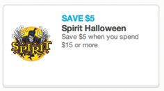 Spirit Halloween Store Coupon: $5.00 Off $15.00 Purchase