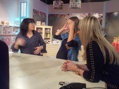Con Herminia Devoto y Paula Domenech en la grabación de Decotortas