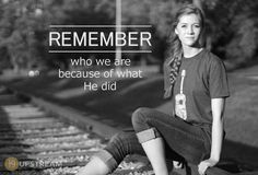 Only through Jesus are crippled lives restored and broken hearts made whole. Jesus brings life.  Check out today's #thruthebible reading: Remember who we are because of Jesus.jpg