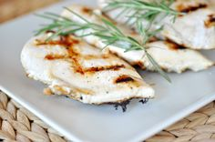 Grilled Rosemary Buttermilk Chicken  -I would add a little more rosemary than what she calls for but that is just me.
