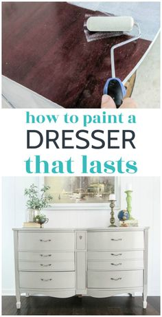 Painting a dresser is an amazing way to give an old piece of furniture new life. Learn how to paint a dresser the right way so the paint finish lasts for years. Step-by-step tutorial for getting the perfect paint finish on any dresser - takes all of the guesswork out of painting furniture.