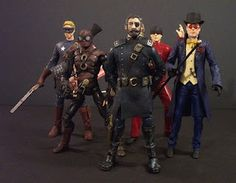 Steampunk marvel action figures