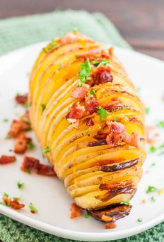 Hasselback Potatoes with Cheese and Bacon - Jo Cooks