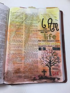 ABC Bible Community Week 4   James 1:5 I AM the Resurrection and the LIfe #biblejournaling #illustratedfaith #easter