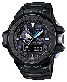 Casio G-Shock Gulfmaster Solar Atomic - Black - Tide Function - Smart Access G Shock Watches, Cool Watches, Watches For Men, Casual Watches, Men's Watches, Black Watches, Luxury Watches, Fashion Watches, New G Shock
