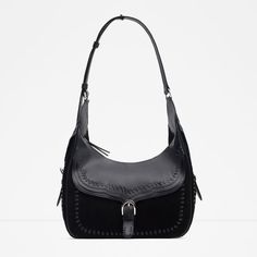 aba6675173 Image 1 of LEATHER BUCKET BAG WITH EYELETS from Zara Hipster Fashion