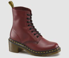 Clemency Lace-Up Boot by Dr. Martens on Patent Leather Boots, Patent Shoes, Red Boots, Lace Up Boots, Dr. Martens, Soft Grunge Outfits, Dr Martens Store, Thing 1, Black