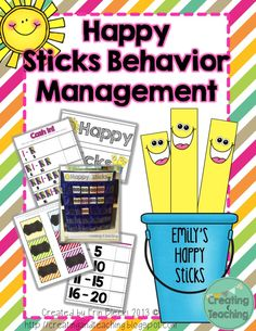 Classroom Behavior Management- Why I'm NOT Using a Clip Chart  Happy Sticks, I want to try this!
