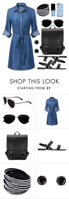 """""""Denim Shirtdress"""" by by-jwp ❤ liked on Polyvore featuring Calvin Klein, Jardin, JINsoon and yoins"""