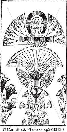 egyptian flower art - Google Search