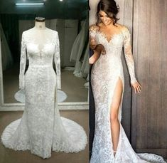 c5f7bb9f55401 Replica of haute couture long sleeve wedding dress by Darius Cordell Bridal